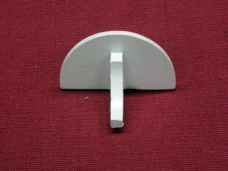 リビング小物 バスルーム小物 セミサークル・シェルフ semi circular shelf Width: 39mm Depth: 20mm Height: 24mm