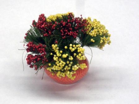 ガーデン小物 花瓶・鉢等 鉢植え花 英国より直輸入 12分の1サイズの ドールハウス・アクセサリーです。