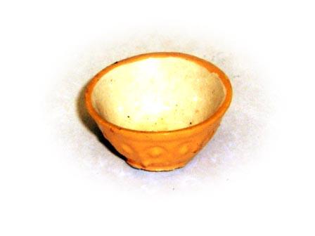 ガーデン小物 花瓶・鉢等 陶器ボール 英国より直輸入 12分の1サイズの ドールハウス・アクセサリーです。