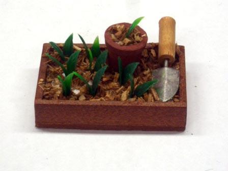 ガーデン小物 道具 ガーデニングセット brown wooden seed bed