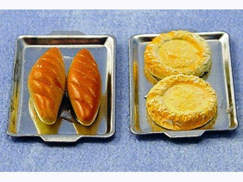 キッチン・ダイニング小物 フード パン&トレイ 各種 英国より直輸入  12分の1サイズの ドールハウス・アクセサリーです。