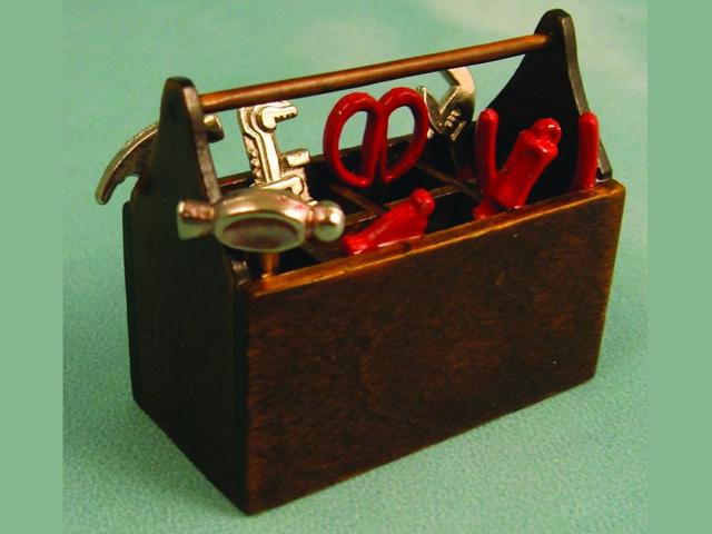ガーデン小物 道具 道具&道具箱 英国より直輸入  12分の1サイズの ドールハウス・アクセサリーです。
