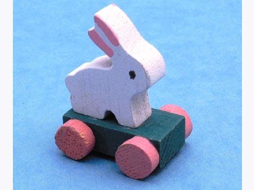 リビング小物 ナーサリー /キッズ小物 おもちゃ(プル・アロング-ウサギ) 英国より直輸入  12分の1サイズの ドールハウス・アクセサリーです。