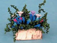 ガーデン小物 花瓶・鉢等 タブ・フラワー 英国より直輸入  12分の1サイズの ドールハウス・アクセサリーです。