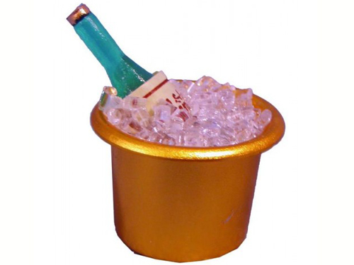 キッチン・ダイニング小物 ドリンク シャンパン&アイス・バケツ 英国より直輸入  12分の1サイズの ドールハウス・アクセサリーです。