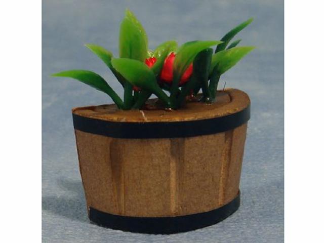 ガーデン小物 花瓶・鉢等 プラント・タブ 英国より直輸入  12分の1サイズの ドールハウス・アクセサリーです。