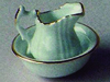 リビング小物 バスルーム小物 陶器ウォッシュボール&ジャグ 英国より直輸入  12分の1サイズの ドールハウス・アクセサリーです。