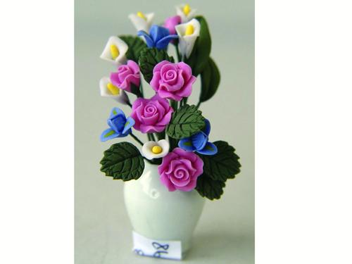 ガーデン小物 花瓶・鉢等 花&バーズ 各種 英国より直輸入  12分の1サイズの ドールハウス・アクセサリーです。