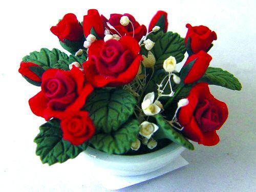ガーデン小物 花瓶・鉢等 ローズ・ボウル 英国より直輸入  12分の1サイズの ドールハウス・アクセサリーです。