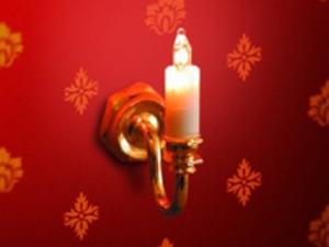 照明器具 壁・その他用 照明 壁用 キャンドル 英国より直輸入  12分の1サイズの ドールハウス用照明です。