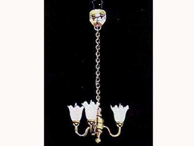 照明器具 天井(シーリング)用 照明 シャンデリア チューリップ 3灯 英国より直輸入  12分の1サイズの ドールハウス用照明です。