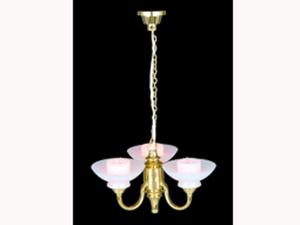 照明器具 天井(シーリング)用 照明 シャンデリア 3灯 英国より直輸入  12分の1サイズの ドールハウス用照明です。