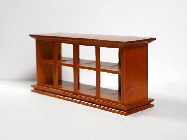 家具 ショップディスプレィ家具 ショップカウンター ウォルナット 英国より直輸入  12分の1サイズの ドールハウス家具です。