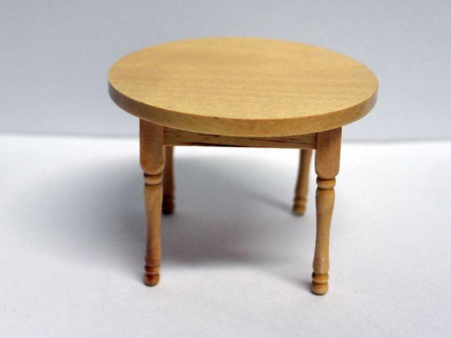 家具 キッチン・ダイニング家具 テーブル 丸 パイン 英国より直輸入  12分の1サイズの ドールハウス家具です。