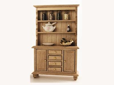 家具 キッチン・ダイニング家具 ドレッサー&アクセサリー パイン 英国より直輸入  12分の1サイズの ドールハウス家具です。画像の備品の商品を含んだお値段です。