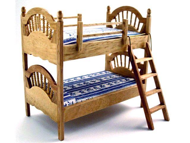 家具 ナーサリー /キッズ家具 2段ベッド 英国より直輸入  12分の1サイズの ドールハウス家具です。