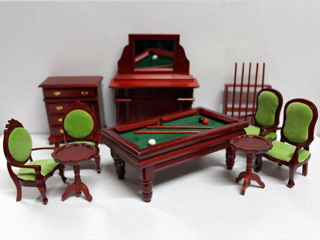 家具 その他 ゲームルーム セット 英国より直輸入  12分の1サイズの ドールハウス家具です。