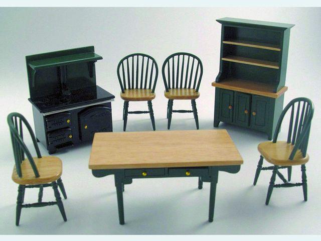 家具 キッチン・ダイニング家具 キッチンセット 英国より直輸入  12分の1サイズの ドールハウス家具です。