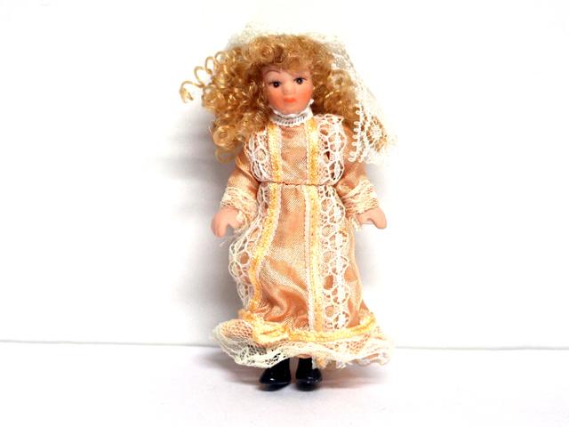 ビスクドール  ビスクドール 女の子 英国より直輸入  12分の1サイズの ドールハウス・アクセサリーです。ポーセリアン(頭・手足)