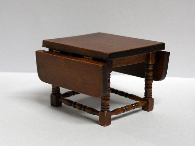家具 キッチン・ダイニング家具 ドロップ・リーフ テーブル 8.4(12.6) x 8 x 6cm