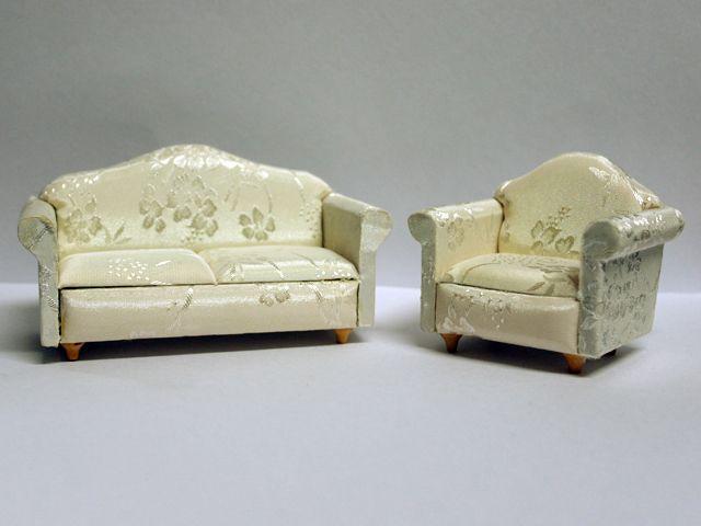 家具 ソファー・チェア類 ソファ セット ソファ:13.3 x 7 x 7 cm アームチェア:8 x 7 x 7cm