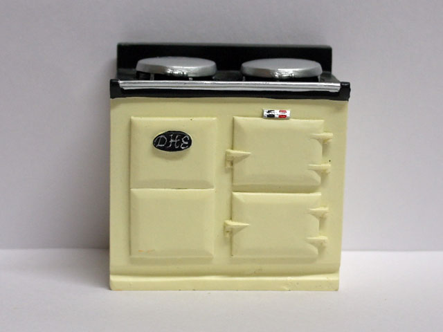家具 キッチン・ダイニング家具 キッチン  ストーブ/ オーブン ホワイト AGA 英国より直輸入  12分の1サイズの ドールハウス家具です。