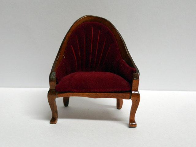 家具 ソファー・チェア類 ラウンジ・チェア 英国より直輸入  12分の1サイズの ドールハウス家具です。