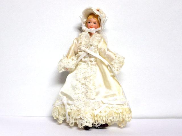 ビスクドール  ビスクドール 婦人 ホワイト 14.8cm