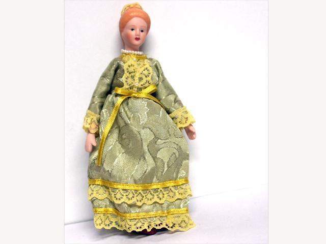 ビスクドール  ビスクドール 婦人 オリーブ 15.6cm