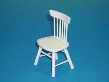 家具 ソファー・チェア類 キッチン チェア 白 5.3 x 4.3 x 8.3cm