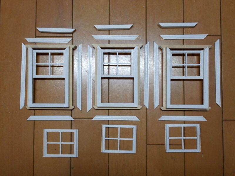 ドールハウスキットサッシュ ウィンドゥ/上げ下げ窓