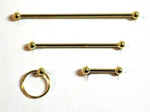 画像1: バスルーム ハードウェア・セット ゴールド