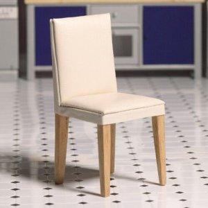 画像1: ダイニング チェア(椅子)  ホワイト・レザー