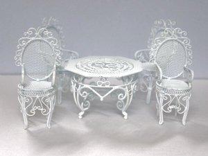 画像3: ガーデン テーブル セット ワイヤー