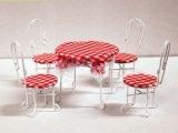 カフェ テーブル&チェア4脚セット カフェ