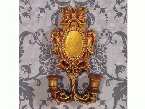 画像1: 壁用スコンス(燭台のろうそく立て) 天使の装飾