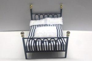 画像2: ベッド ブラック キャストアイアン