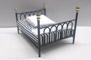 画像5: ベッド ブラック キャストアイアン