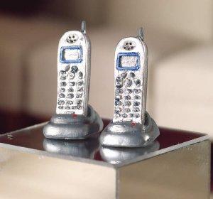 1/12サイズのドールハウス用ミニチュア コードレス電話 2機