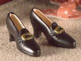 婦人靴 バックル付き 黒