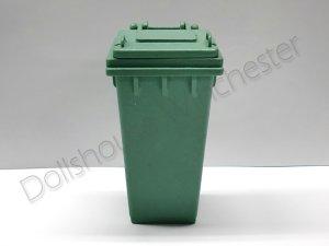 画像1: キャスター付ゴミ箱 グリーン