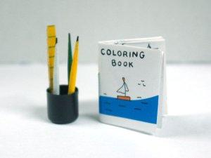 画像2: ぬりえと鉛筆セット