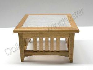 画像1: コーヒーテーブル ガラストップ