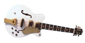 1/12サイズのドールハウス用ミニチュア ギブソン ギター