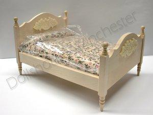 画像1: ダブル・ベッド 未塗装