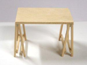 画像1: 架台式テーブル 未塗装