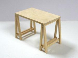 画像2: 架台式テーブル 未塗装