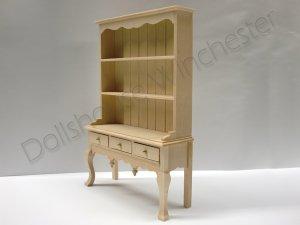 画像2: ドレッサー(食器飾り棚) クィーン・アン 未塗装