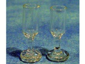 画像2: ガラス製ワイングラス ペア(2個)