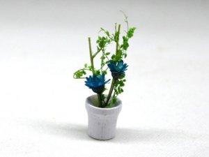 画像1: 鉢植え花 青